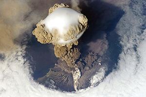 Sarychev Peak Volcano erupts June 12, 2009