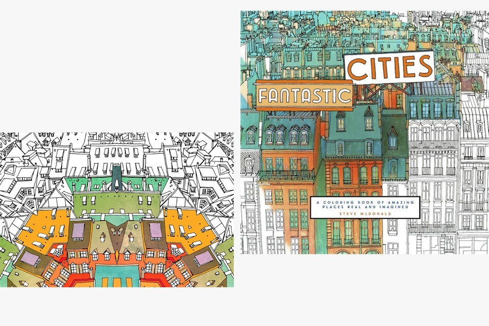 Canadian Artist Steve MacDonald Created A Coloring Book With The Architecture Of Big Cities Seemingly New York And San Francisco
