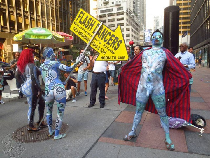 New York City Hosts Body Art March Bird In Flight
